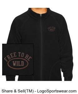 Free to be Wild - Unisex Campus Jacket Design Zoom